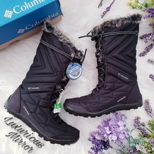 Columbia Minx Mid III Lace Up Insulated Black Boot